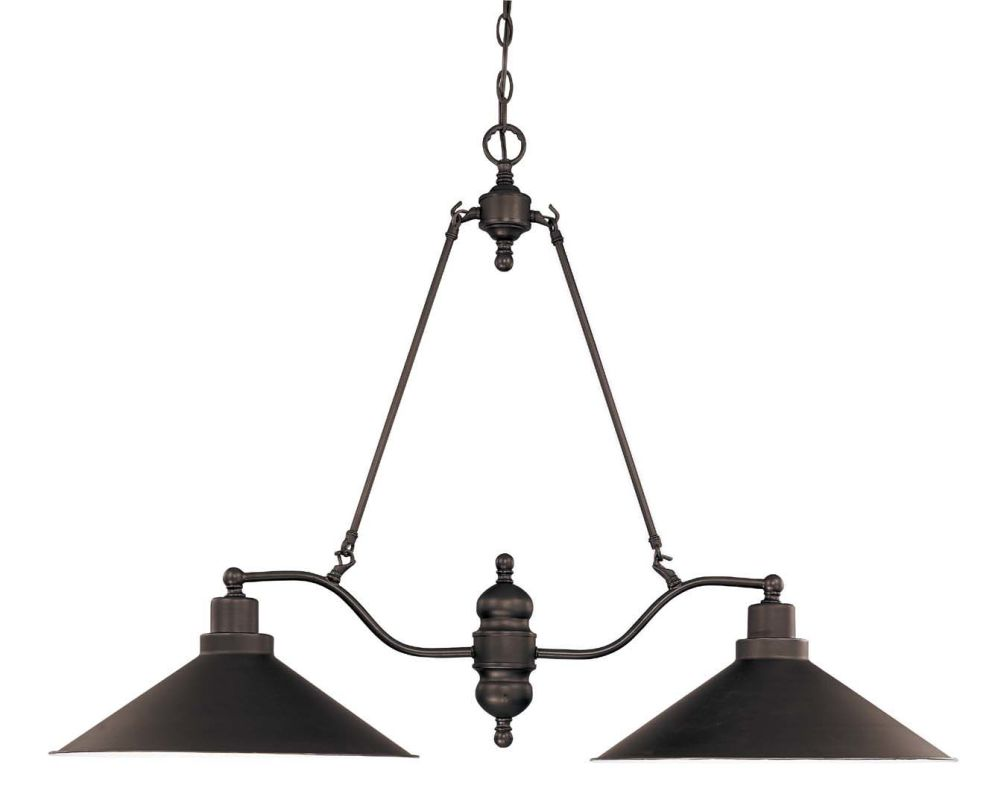 "Nuvo Lighting 60/1703 Bridgeview 2 Light 40"" Wide Chandelier Mission"