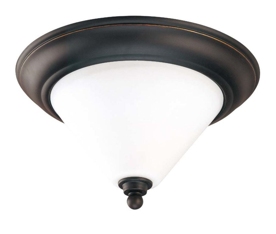 "Nuvo Lighting 60/1705 Bridgeview 2 Light 13"" Wide Flush Mount Ceiling"