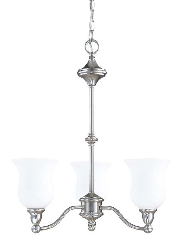 "Nuvo Lighting 60/1801 Glenwood 3 Light 22"" Wide Chandelier with Satin"