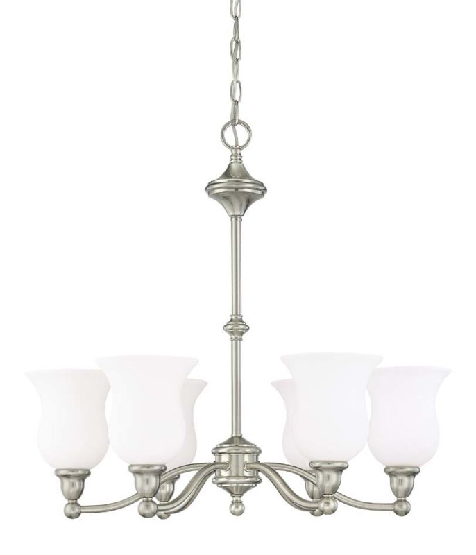 "Nuvo Lighting 60/1802 Glenwood 6 Light 25.5"" Wide Chandelier with"