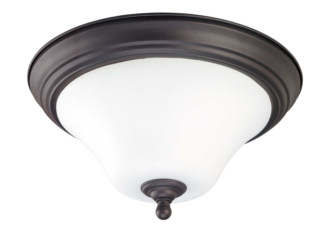 "Nuvo Lighting 60/1926 Dupont 2 Light 15"" Wide Flush Mount Ceiling"