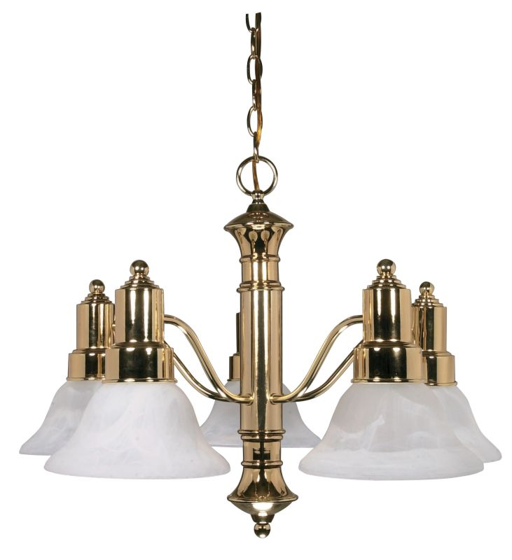 "Nuvo Lighting 60/193 Gotham 5 Light 24.5"" Wide Chandelier with"