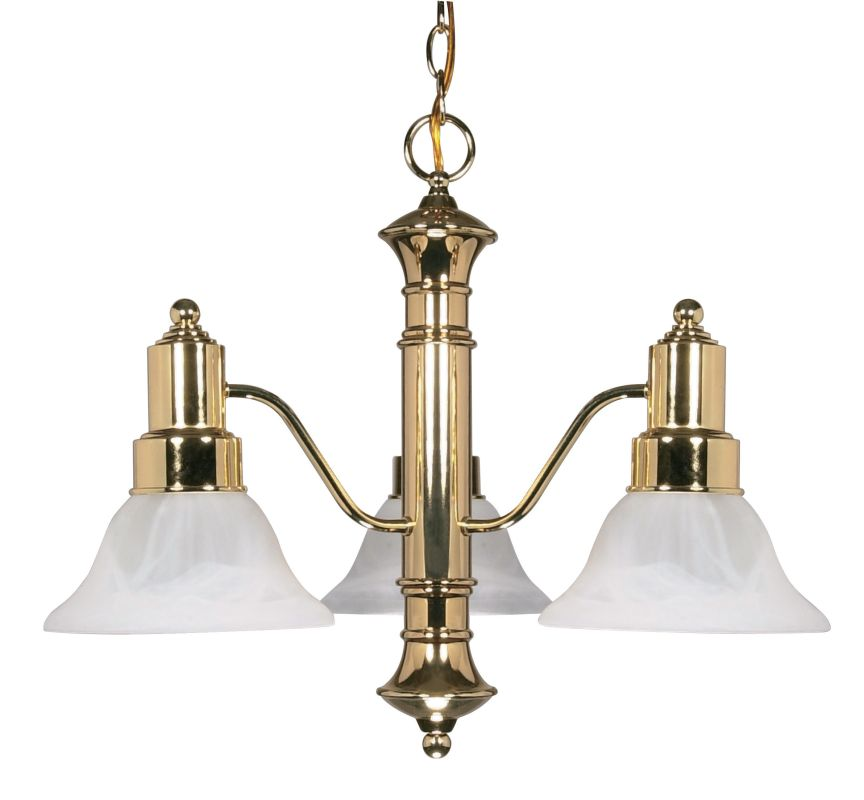 """Nuvo Lighting 60/194 Gotham 3 Light 22.5"""" Wide Chandelier with"""