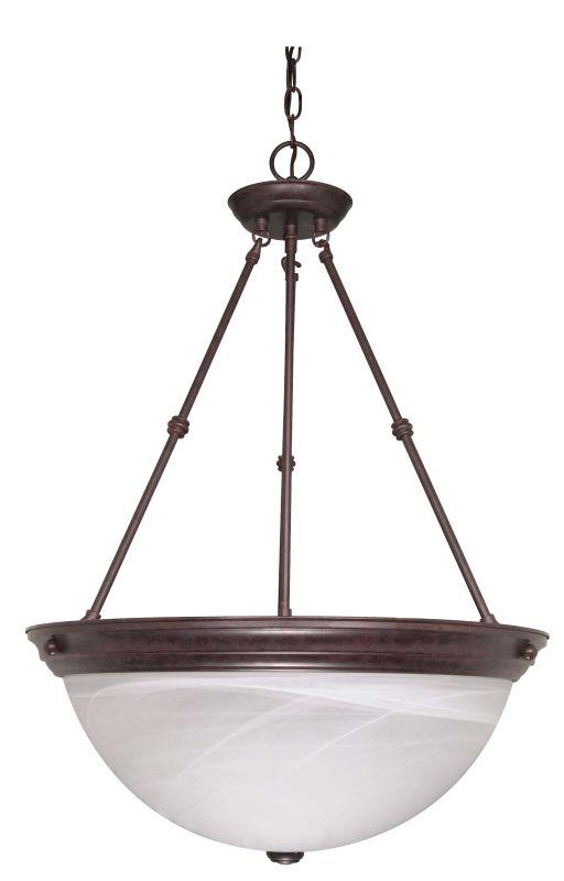 "Nuvo Lighting 60/212 Three Light 20"" Wide Bowl Pendant Old Bronze"