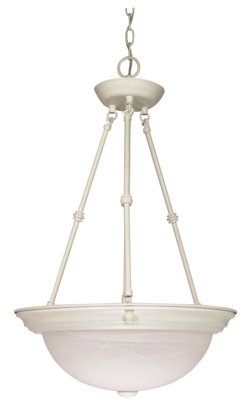 Nuvo Lighting 60/227 Three Light 15&quote Wide Bowl Pendant Textured White