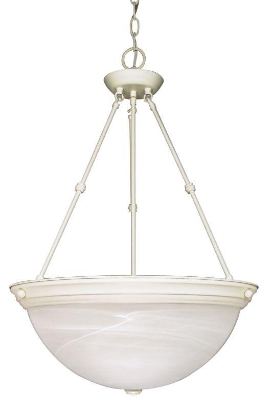 "Nuvo Lighting 60/228 Three Light 20"" Wide Bowl Pendant Textured White"
