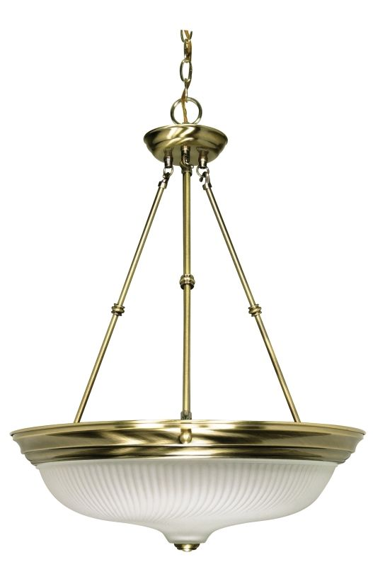 Nuvo Lighting 60/244 Three Light Large Bowl Pendant Antique Brass