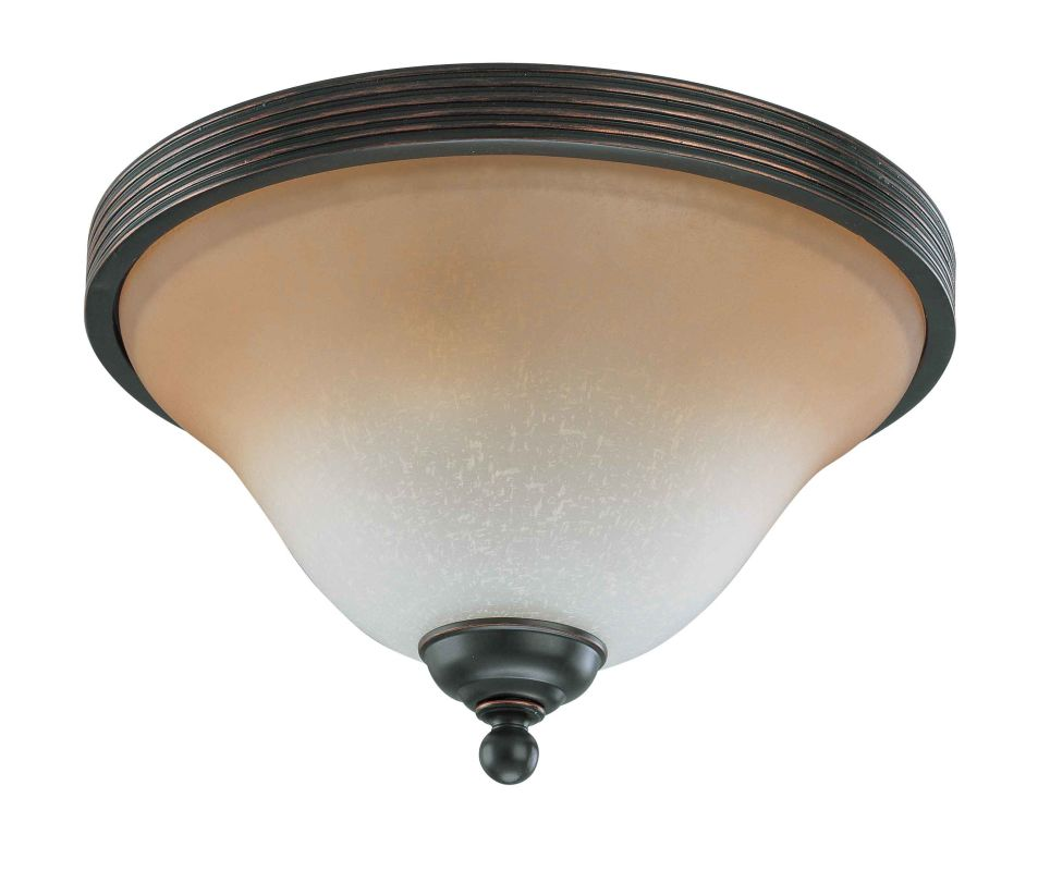 "Nuvo Lighting 60/2753 Montgomery 2 Light 13"" Wide Flush Mount Ceiling"