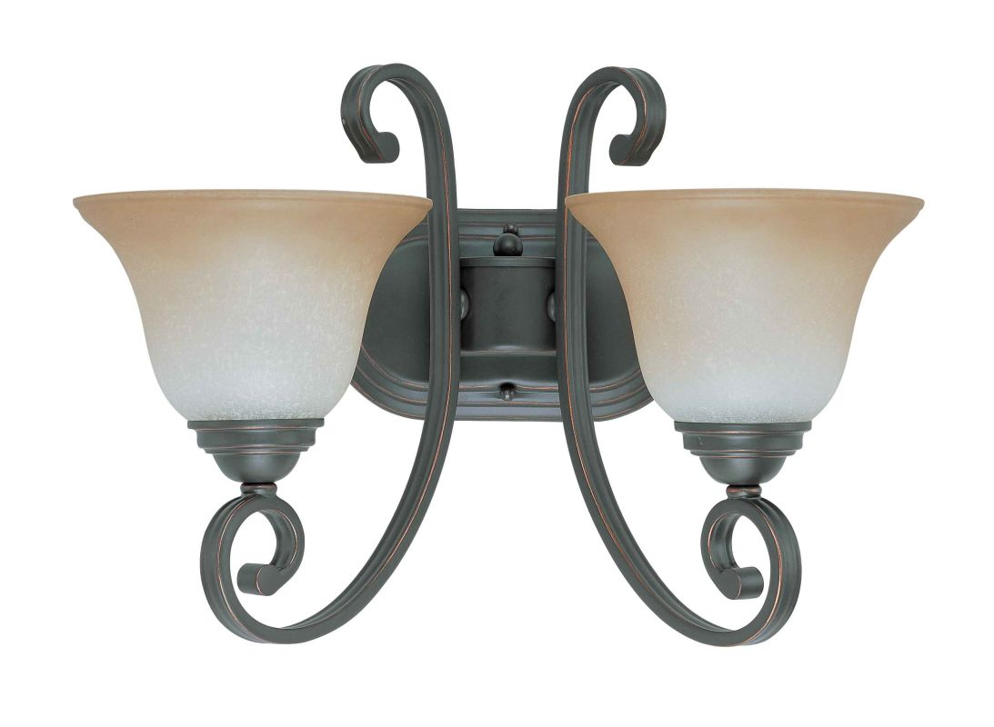 "Nuvo Lighting 60/2756 Montgomery 2 Light 16.5"" Wide Vanity Light with"