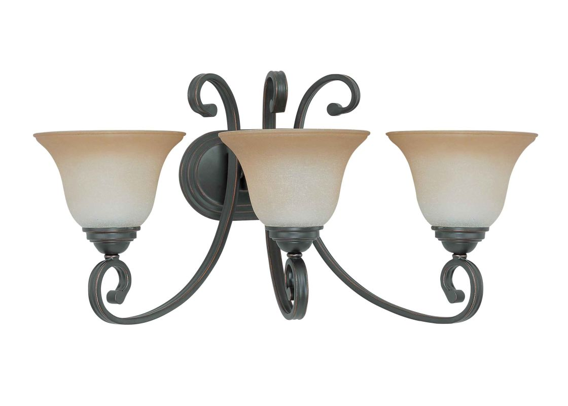 "Nuvo Lighting 60/2757 Montgomery 3 Light 24"" Wide Vanity Light with"