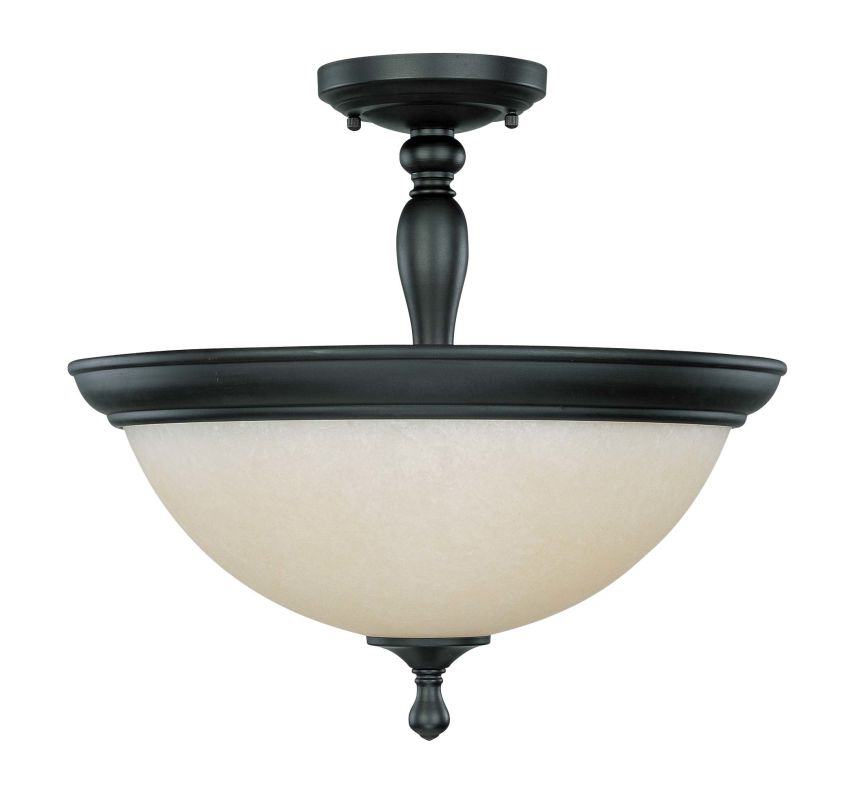 "Nuvo Lighting 60/2787 Bella 3 Light 15.8"" Wide Semi-Flush Ceiling"