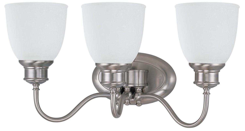 Shop Sea Gull Lighting 3 Light Melody Brushed Nickel: Nuvo Lighting 60/2799 Brushed Nickel Three Light
