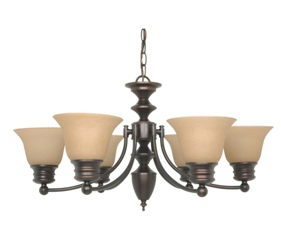 "Nuvo Lighting 60/3129 Empire 6 Light 26"" Wide Chandelier with"
