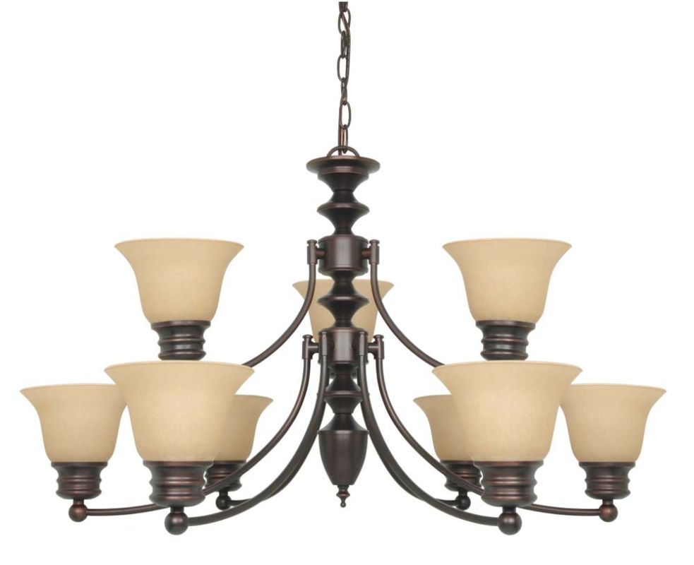 "Nuvo Lighting 60/3131 Empire 9 Light 32"" Wide Chandelier with"