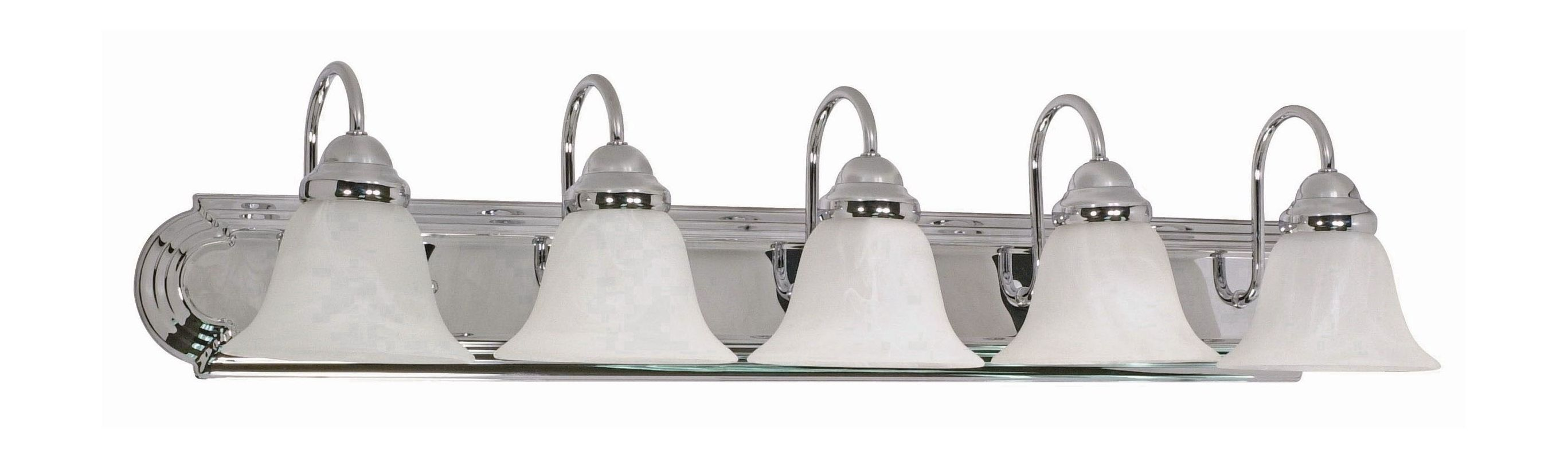 "Nuvo Lighting 60/319 Five Light Reversible Lighting 36"" Wide Bathroom"