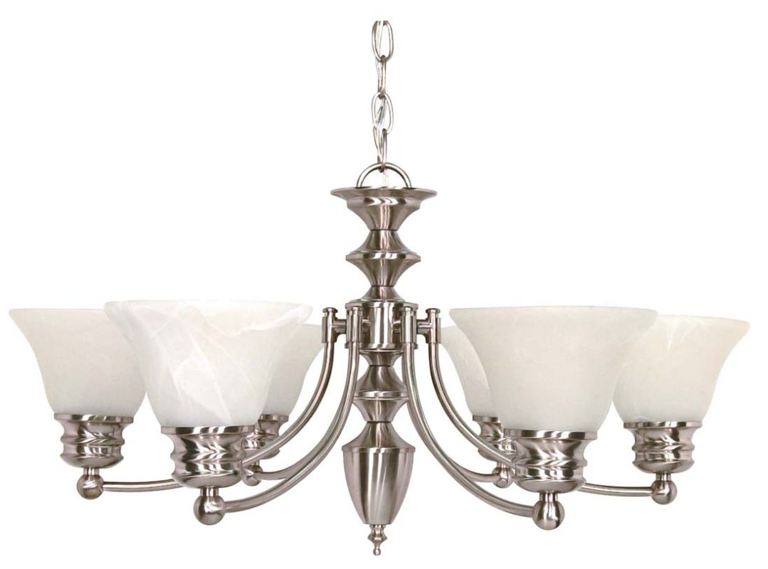 "Nuvo Lighting 60/3195 Empire 6 Light 26"" Wide Chandelier with"