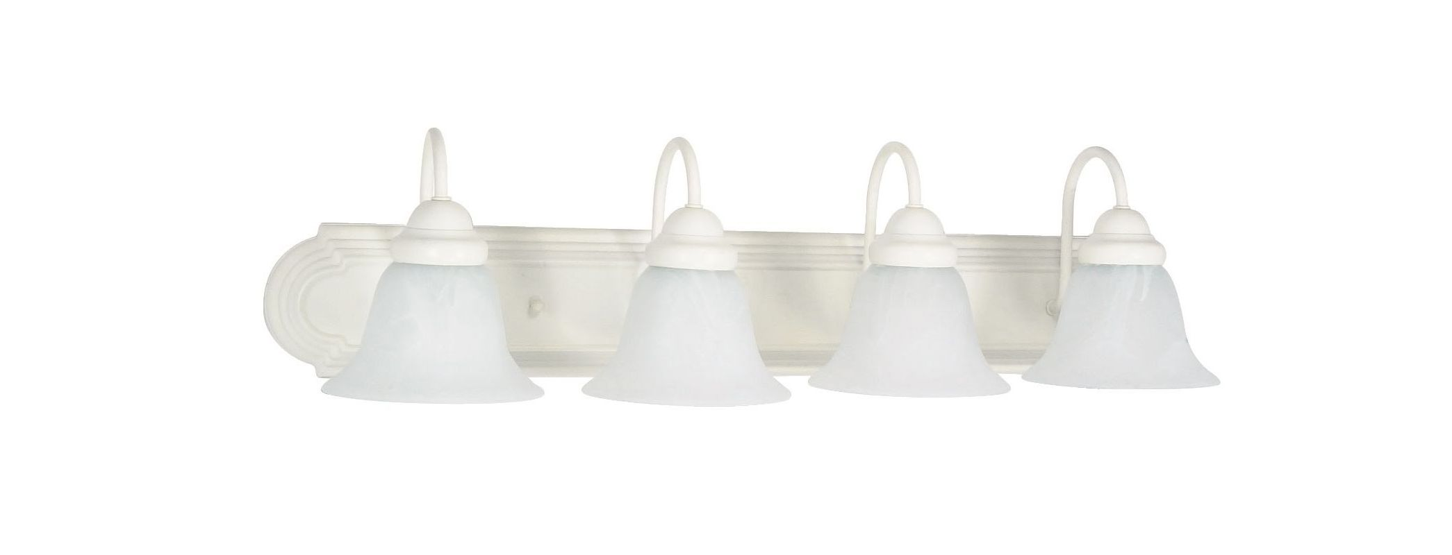 "Nuvo Lighting 60/334 Four Light Reversible Lighting 30"" Wide Bathroom"