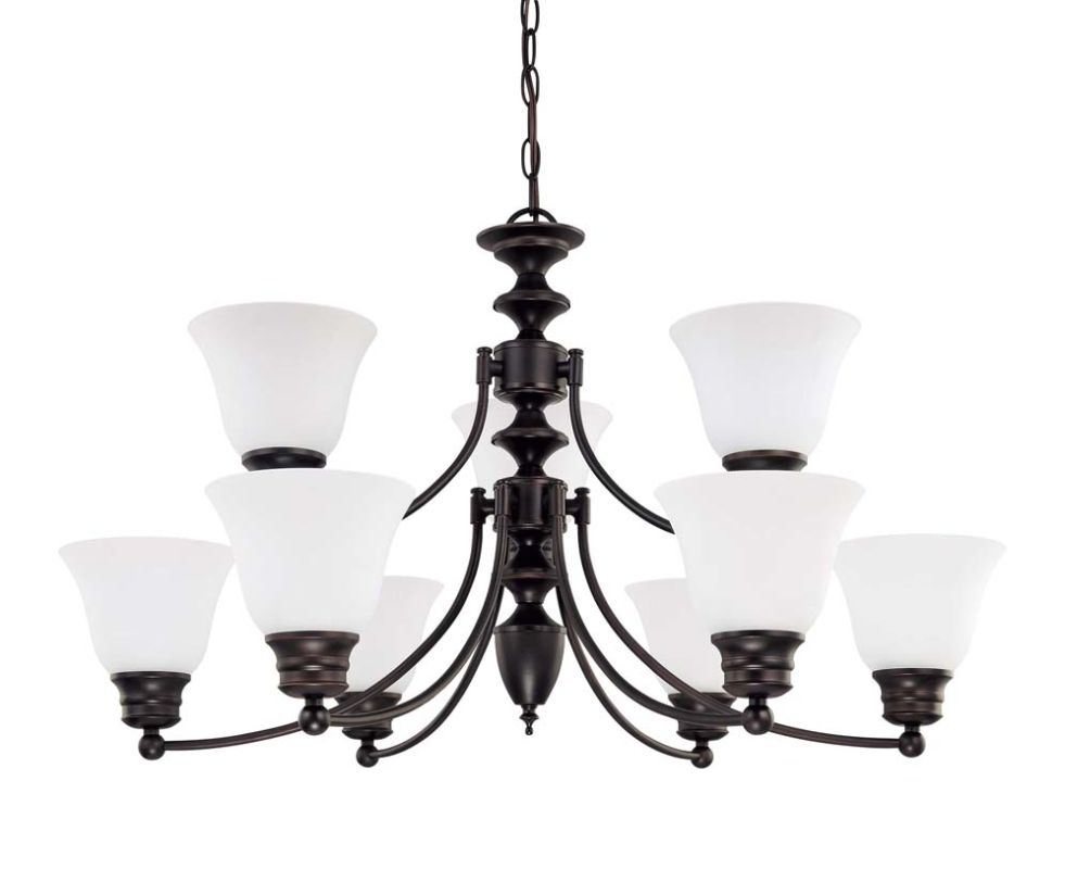 "Nuvo Lighting 60/3361 Empire 9 Light 32"" Wide Chandelier with"