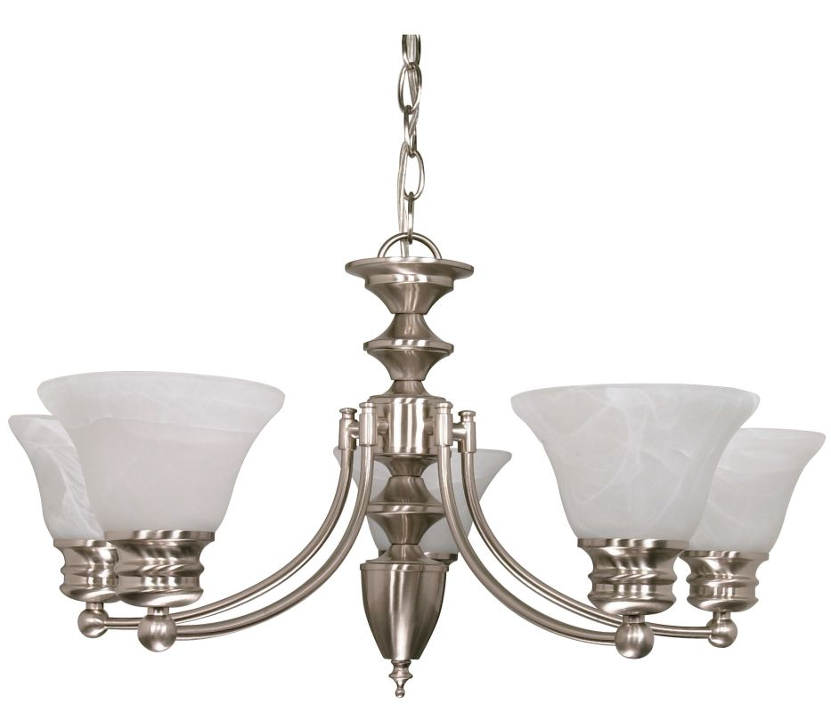 "Nuvo Lighting 60/356 Empire 5 Light 26"" Wide Chandelier with Alabaster"
