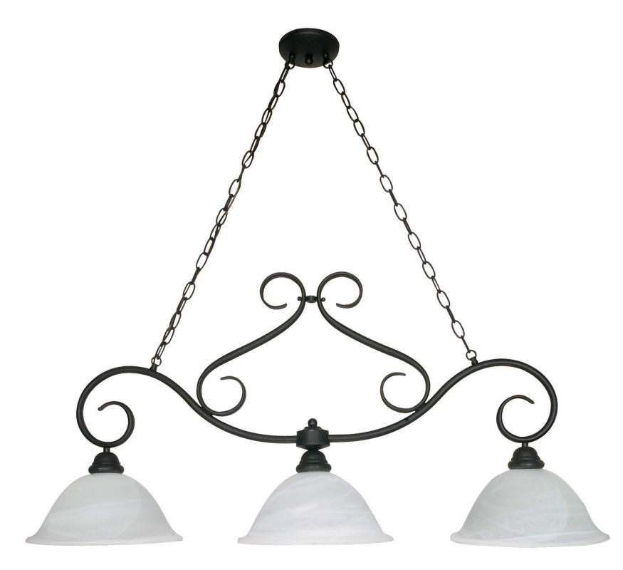 "Nuvo Lighting 60/382 Castillo 3 Light 44"" Wide Chandelier with"