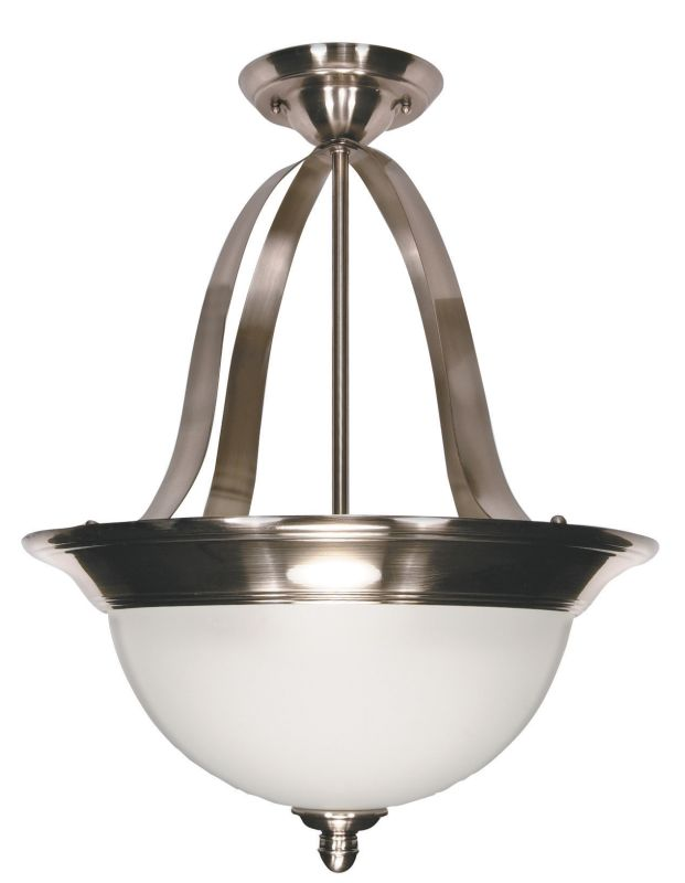 "Nuvo Lighting 60/621 Palladium 3 Light 16"" Wide Pendant with Satin"