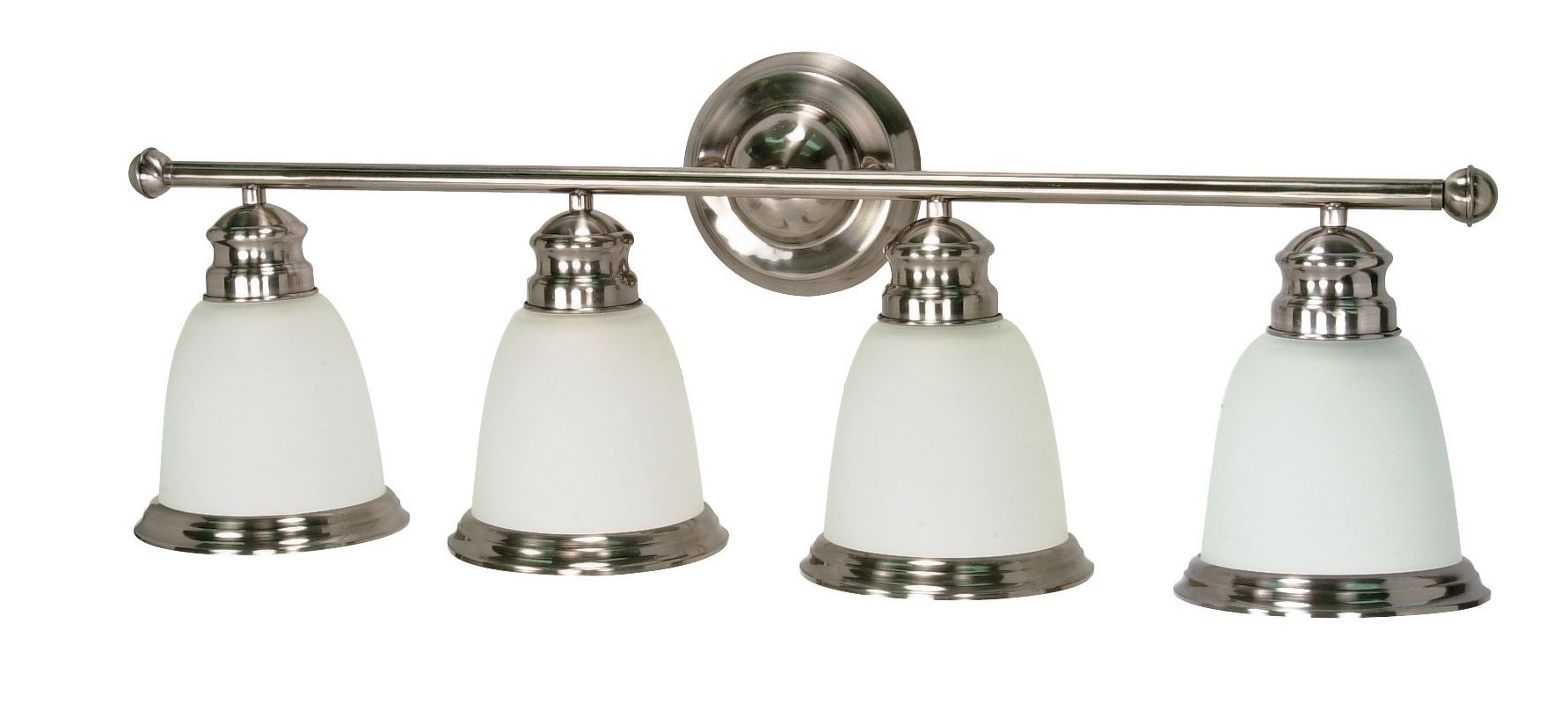 "Nuvo Lighting 60/625 Palladium 4 Light 30.5"" Wide Vanity Light with"