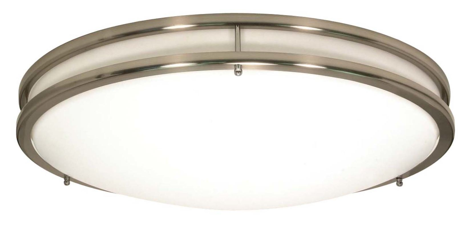 Nuvo Lighting 60 900 Brushed Nickel Glamour 3 Light Flush Mount Energy Star Rated Indoor Ceiling