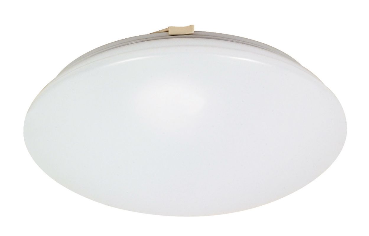 "Nuvo Lighting 60/916 Crispo Single Light 12"" Wide Flush Mount Ceiling"
