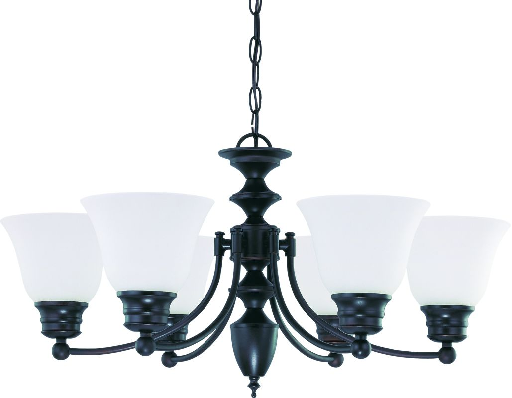 """Nuvo Lighting 60/3169 Empire 6 Light 26"""" Wide Chandelier with Frosted"""