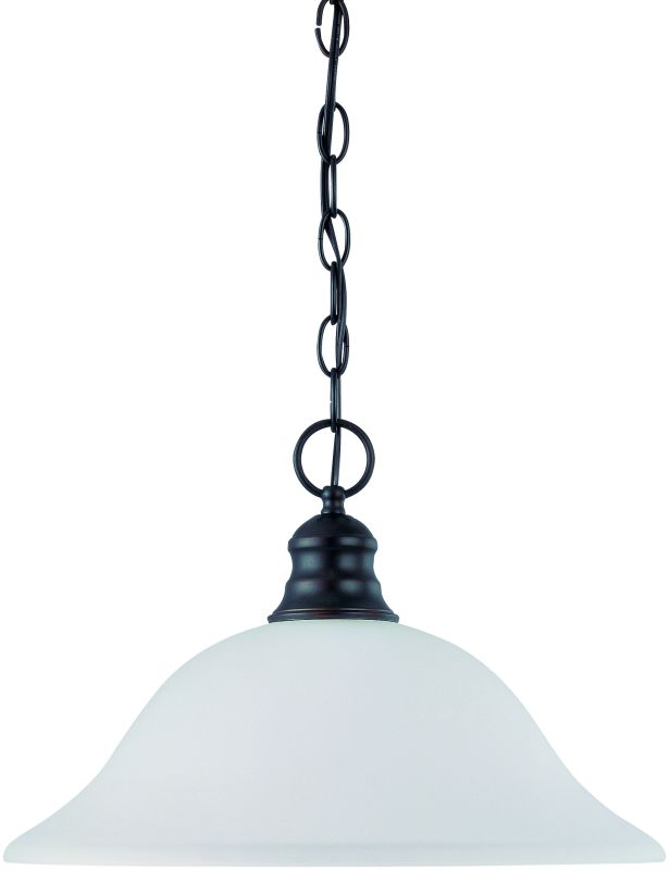 "Nuvo Lighting 60/3173 Single Light 16"" Wide Pendant Mahogany Bronze"