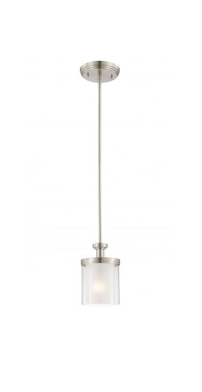 Nuvo Lighting 60/4648 Decker 1 Light Mini Single Pendant Brushed