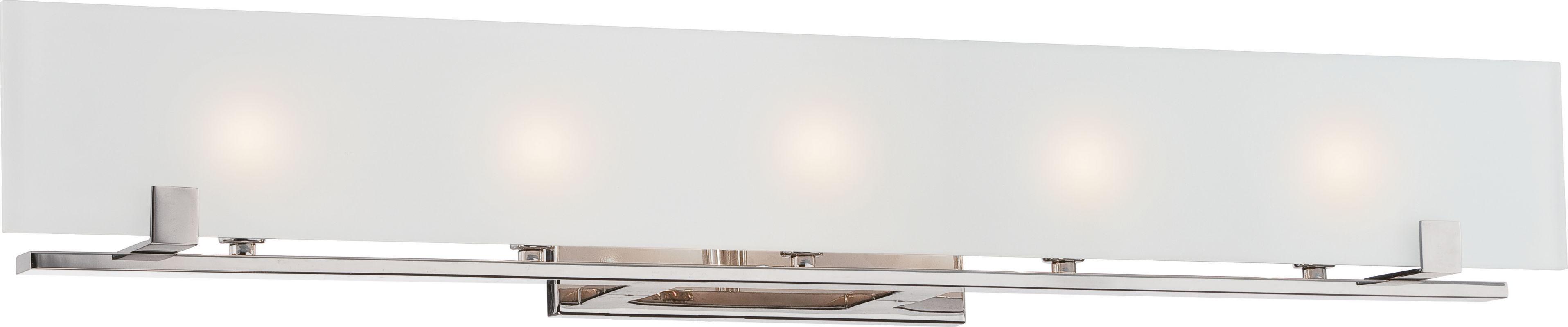 Nuvo Lighting 60/5178 Lynne 5 Light Bath Bar Polished Nickel Indoor
