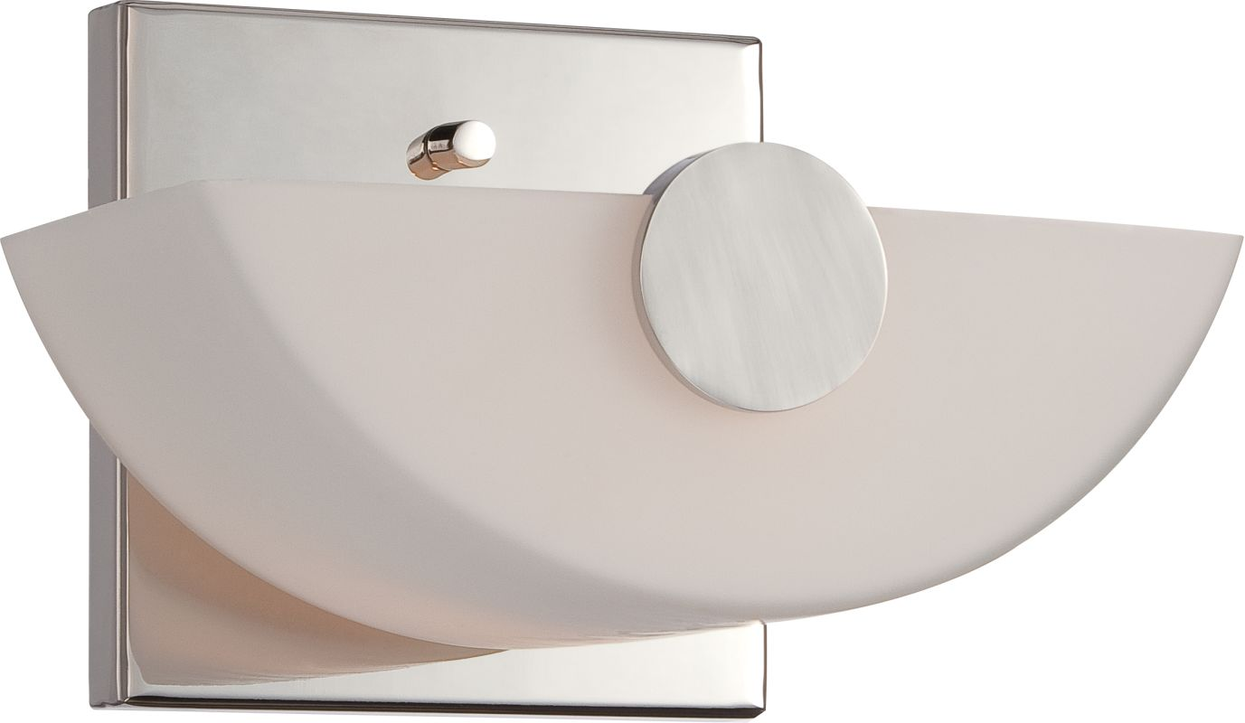 Nuvo Lighting 60/5191 Semi 1 Light Bathroom Sconce Polished Nickel