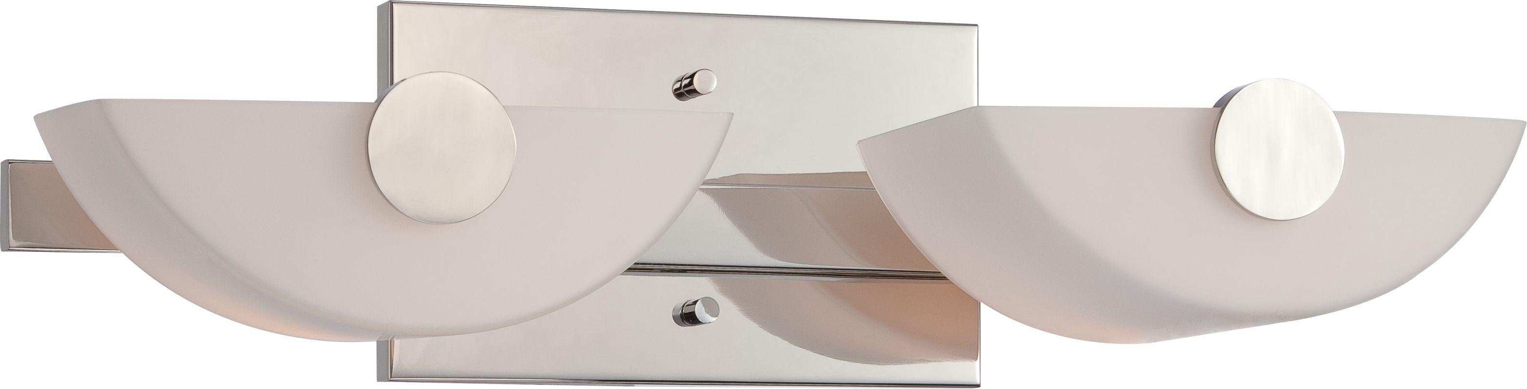 Nuvo Lighting 60/5192 Semi 2 Light Bathroom Vanity Light Polished