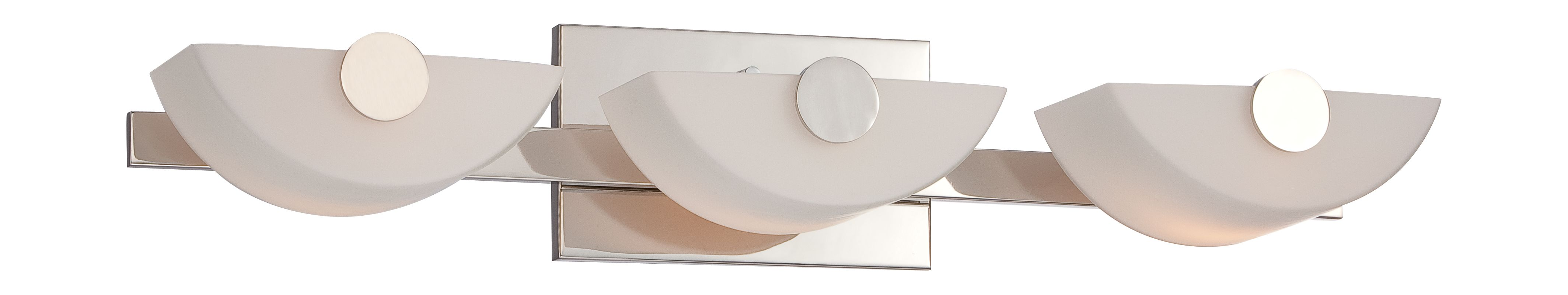 Nuvo Lighting 60/5193 Semi 3 Light Bathroom Vanity Light Polished