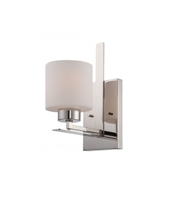 Nuvo Lighting 60/5201 Parallel 1 Light Bathroom Sconce in Polished