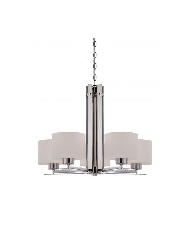 Nuvo Lighting 60/5205 Parallel 5 Light 1 Tier Chandelier in Polished