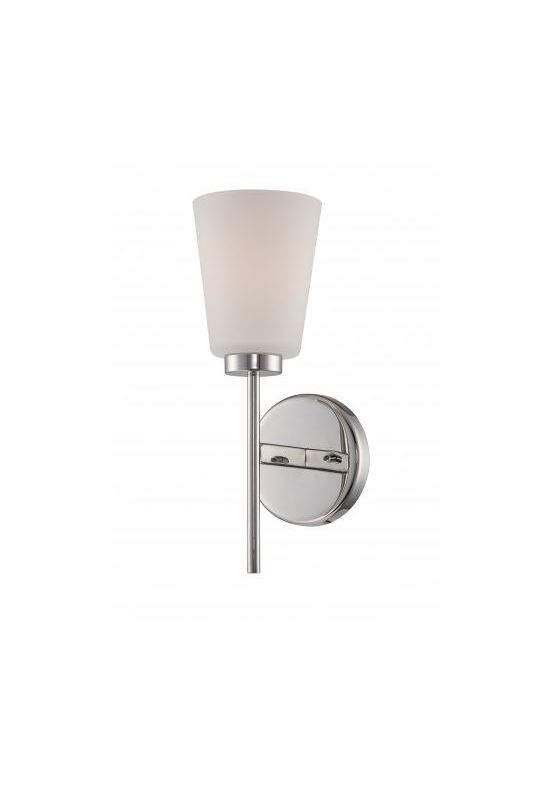 Nuvo Lighting 60/5211 Benson 1 Light Bathroom Sconce Polished Nickel