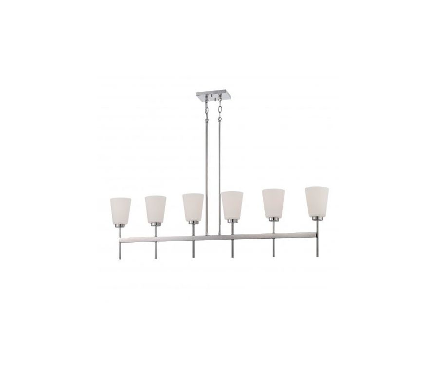 Nuvo Lighting 60/5217 Benson 6 Light Large Linear Chandelier Polished