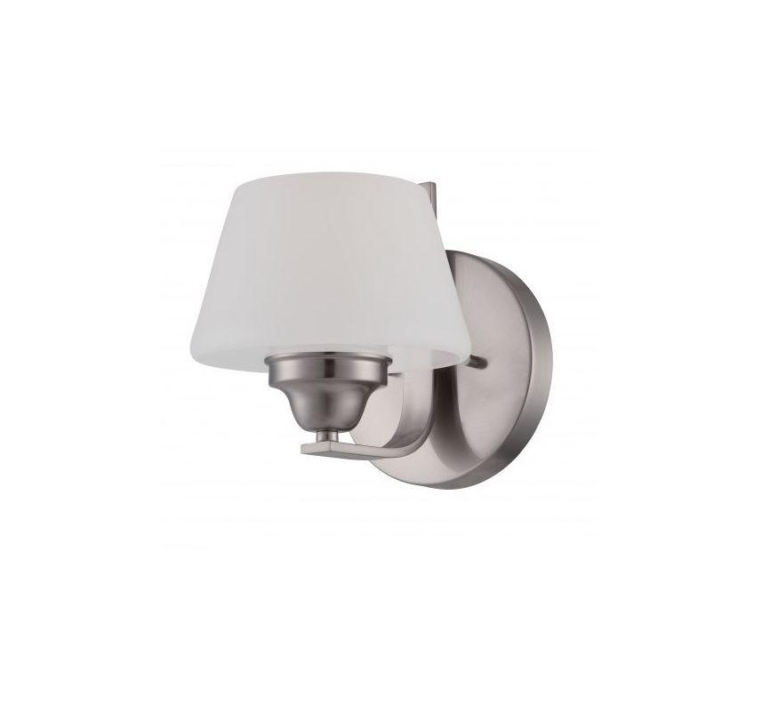 Nuvo Lighting 60/5221 Ludlow 1 Light Bathroom Sconce in Brushed Nickel