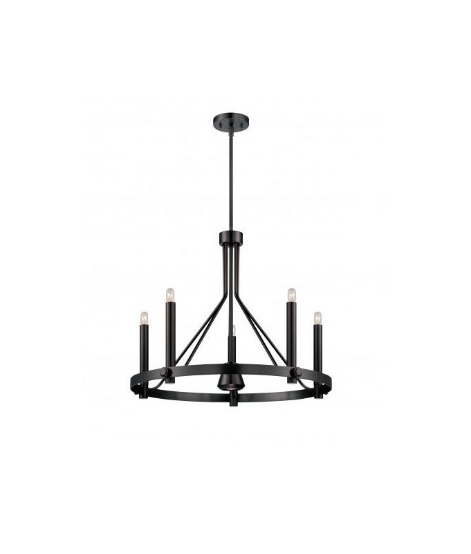Nuvo Lighting 60/5243 Telegraph 6 Light 1 Tier Candle Style Chandelier