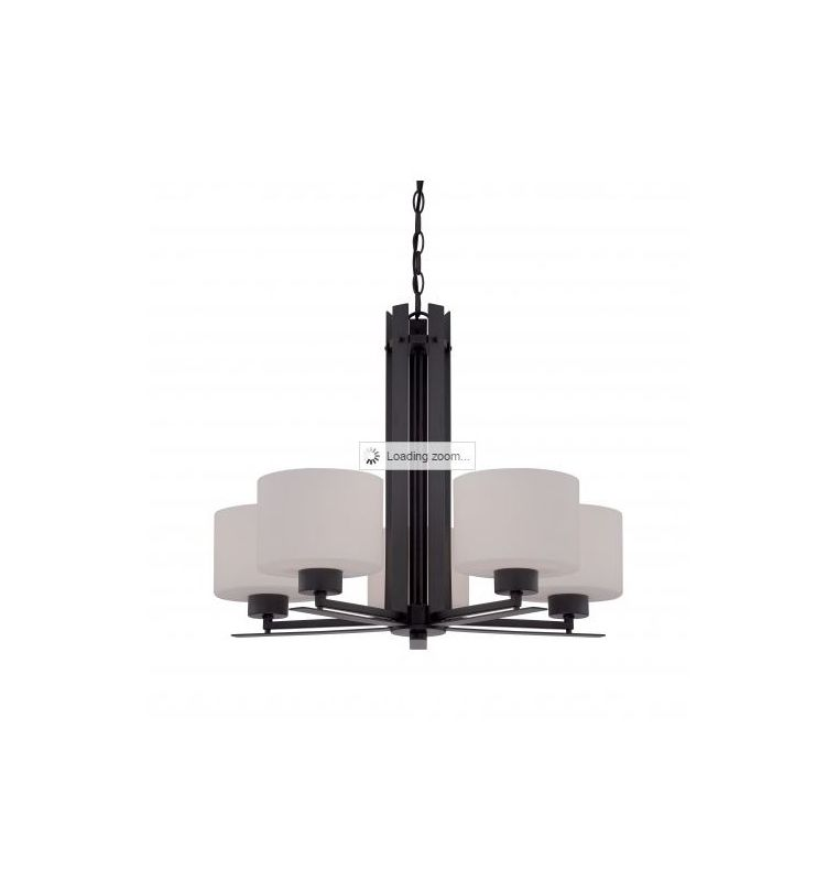 Nuvo Lighting 60/5305 Parallel 5 Light 1 Tier Chandelier in Aged