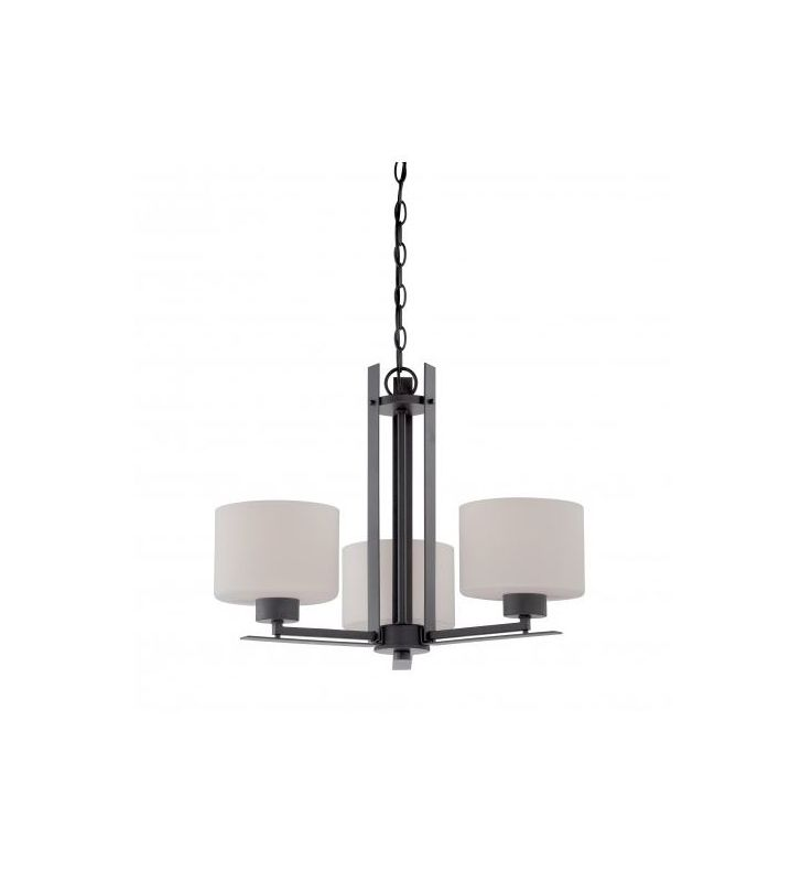 Nuvo Lighting 60/5306 Parallel 3 Light 1 Tier Chandelier in Aged