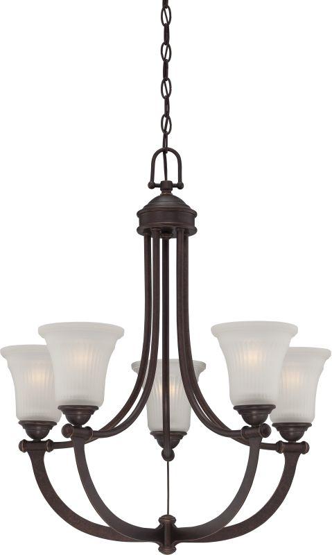 Nuvo Lighting 60/5315 Monroe 5 Light 1 Tier Chandelier Georgetown
