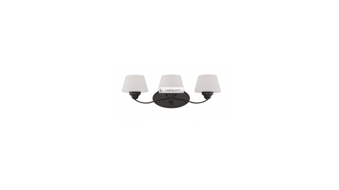 Nuvo Lighting 60/5323 Ludlow 3 Light Bathroom Vanity Light in Russet