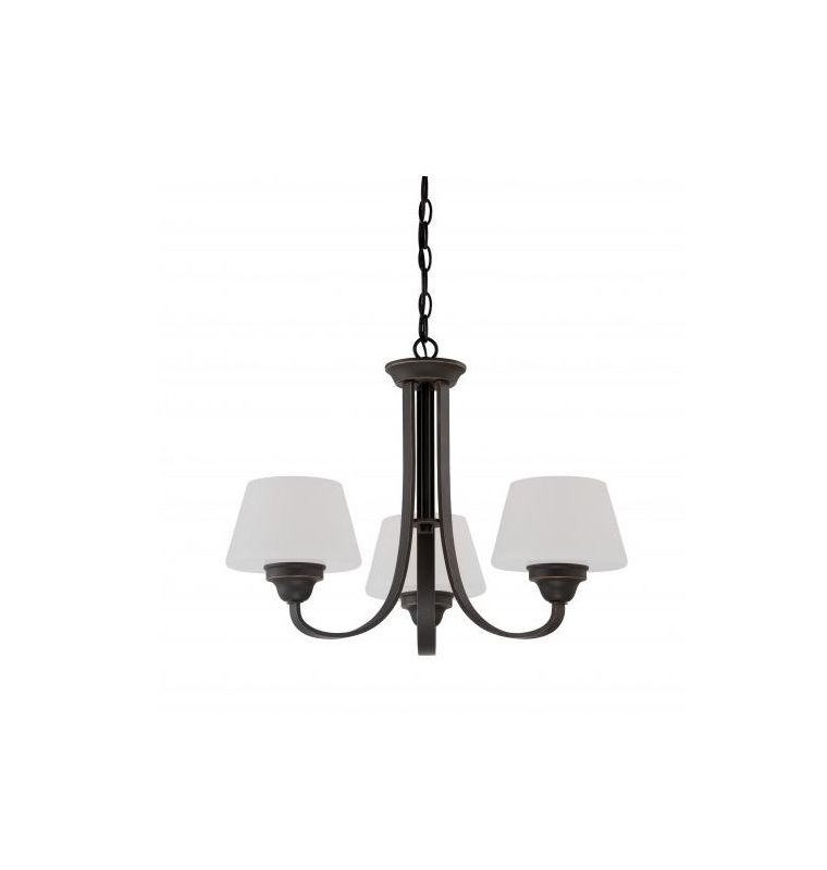 Nuvo Lighting 60/5324 Ludlow 3 Light 1 Tier Chandelier in Russet