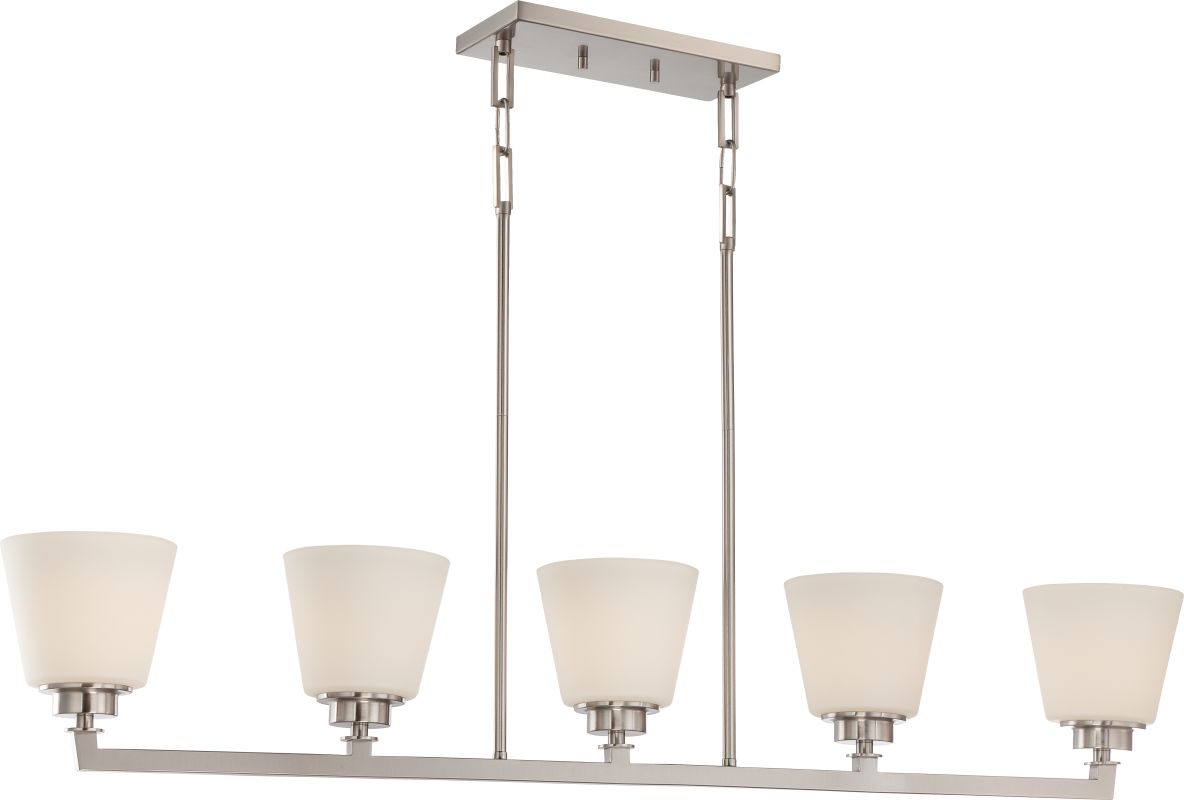 Nuvo Lighting 60/5455 Mobili 5 Light Large Linear Chandelier in