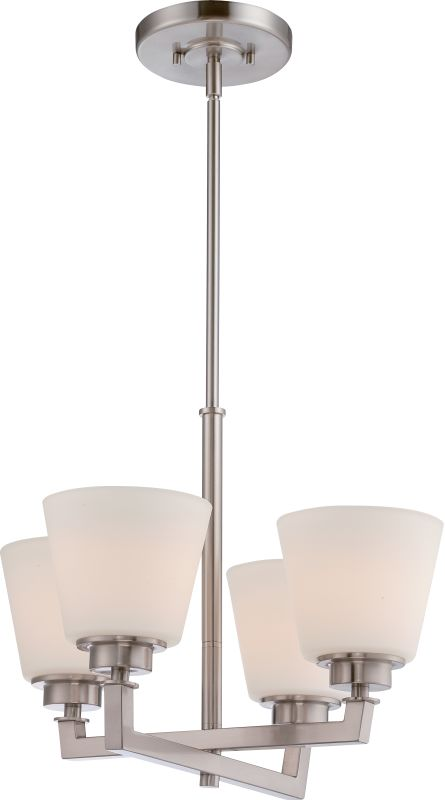 Nuvo Lighting 60/5458 Mobili 4 Light 1 Tier Chandelier in Brushed
