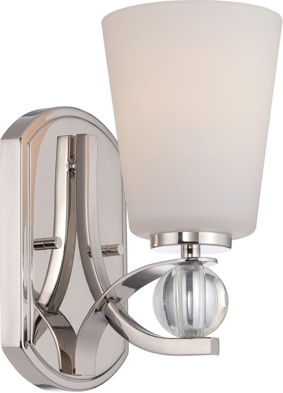 Nuvo Lighting 60/5491 Connie 1 Light Bathroom Sconce Polished Nickel