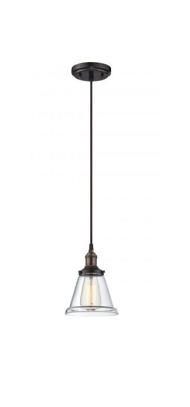 "Nuvo Lighting 60/5502 Vintage 6.5"" Width 1 Light Mini Single Pendant"